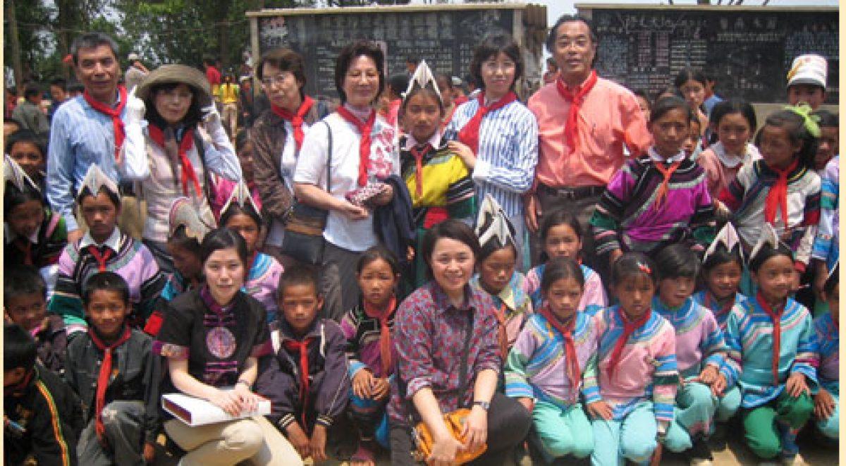 50の学校プロジェクト 第8校「日中友好紅河県他撒ハニ族僑心小学校」