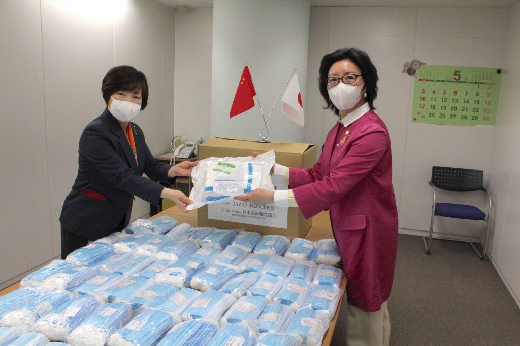 日本雲南聯誼協会 マスク支援 阿部俊子衆議院議員訪問